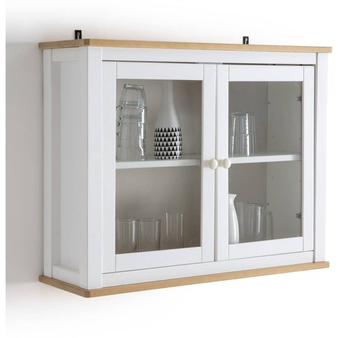 Alvina Scandi-Style Solid Pine Kitchen Display Cabinet