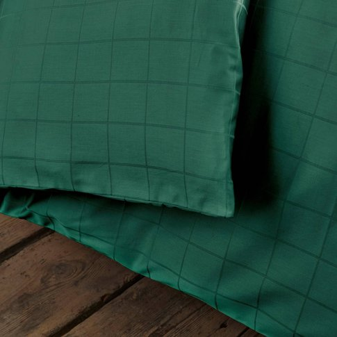 Satin Duvet Cover with Large Checks