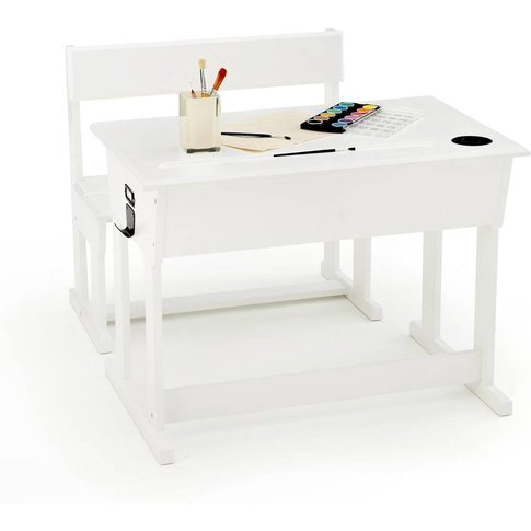 Toudou Child'S Pine Desk And Bench