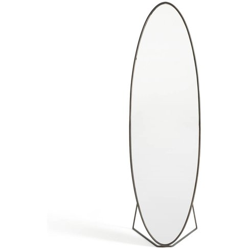 Koban Oval Psyche Mirror With Metal Frame, H169.5cm