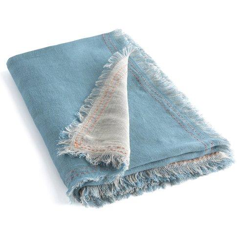 BEHA Two-Tone Woven Linen Blanket