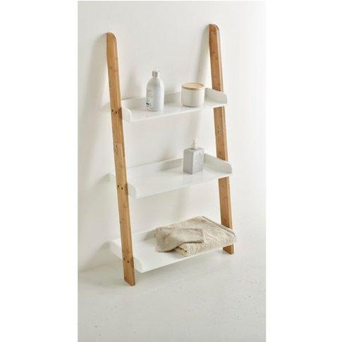 Lindus Bamboo Ladder-Style Bathroom Shelving Unit