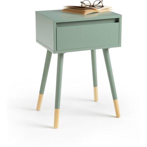 JANIK Scandi-Style Pine Bedside Table