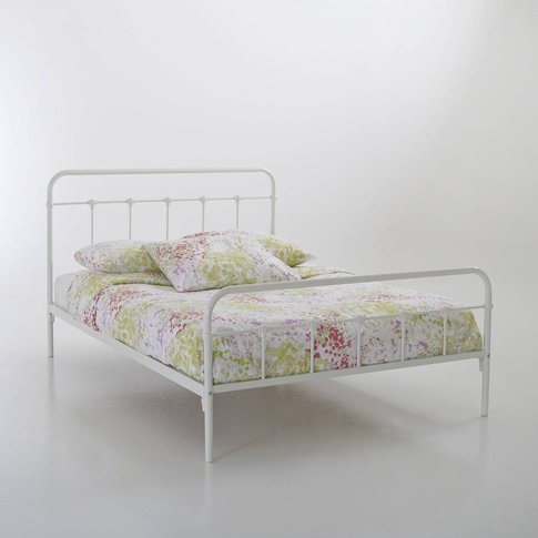 Asper Double Bed With Bars Without Slats