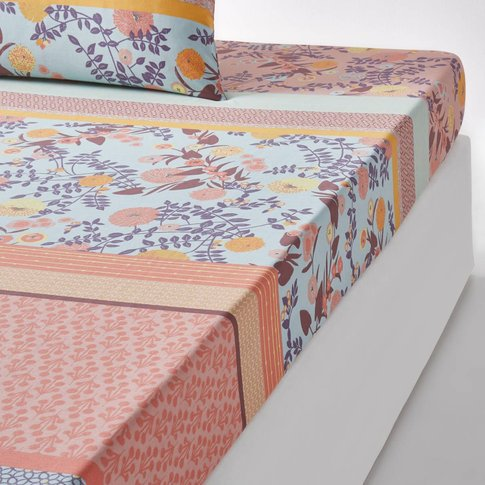 Shisendo Printed Cotton Fitted Sheet