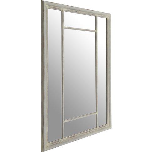 Saffi Wall Mirror, Chinese Oak, Distressed Grey
