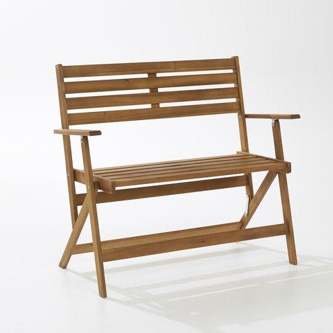 Two-Seater Folding Acacia Garden Bench