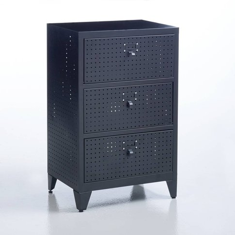 Facty 3-Drawer Perforated Metal Cabinet