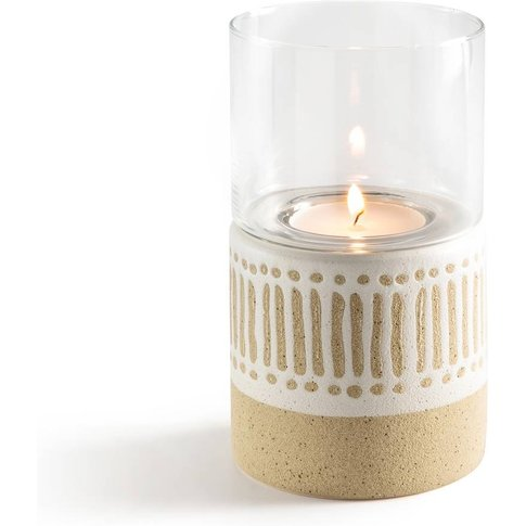 Faso Ceramic And Glass Candleholder