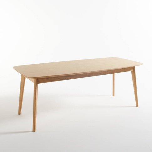 Biface Retro-Style Oak Dining Table (Seats 8)