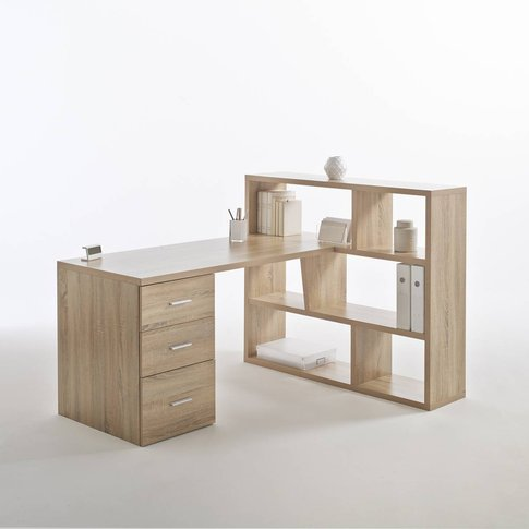 Fenon Reversible Desk With Bookcase