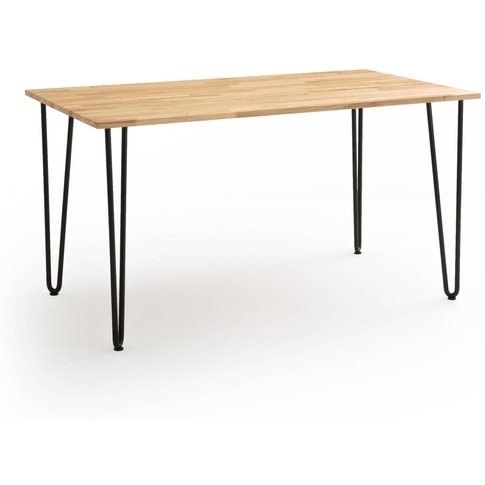 Adza Solid Oak 4-6 Seater Dining Table