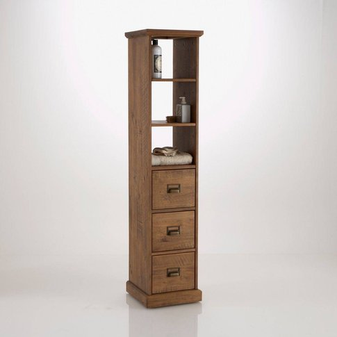LINDSEY Solid Wood Bathroom Storage Cabinet