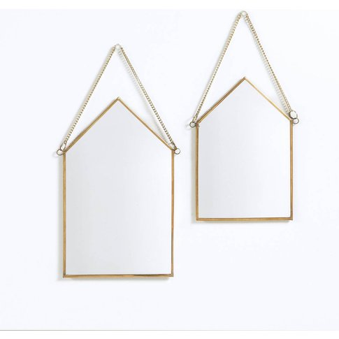 Set Of 2 Uyova House-Shaped Mirrors