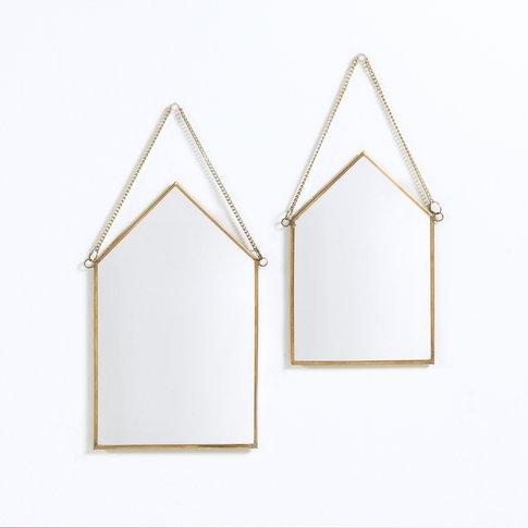 Set Of 2 Uyova House-Shaped Mirrors