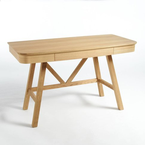 Buondi Oak Desk With Drawer, Designed By E. Gallina