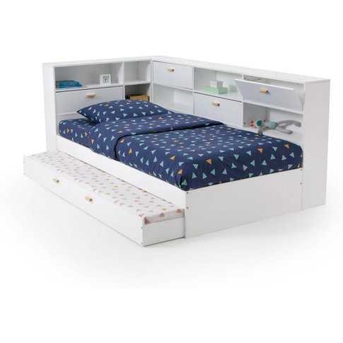 Yann Bed With Base, Trundle And Storage