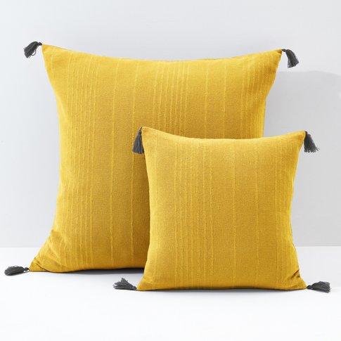 Riad Plain Cushion Cover Or Pillowcase With Tassles