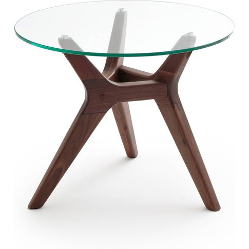 Maricielo Walnut & Glass Coffee Table