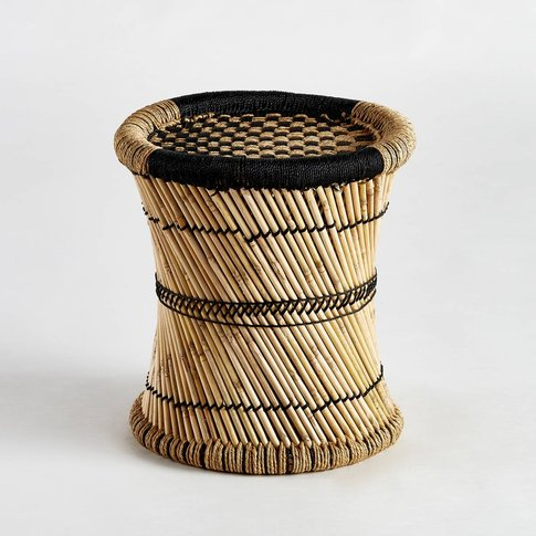 Tingda Two-Tone Bamboo Checkered Side Table