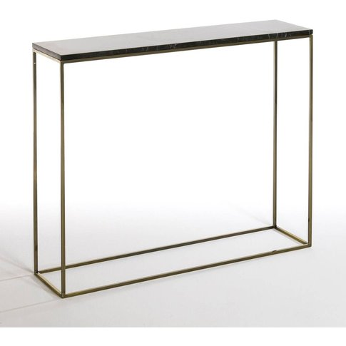 Mahaut Marble & Brass Console Table