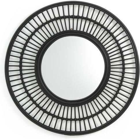 Nogu Round Rattan Mirror, 90cm Diameter