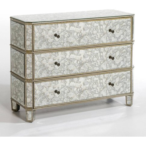 Winsome Antiqued Mirrored Chest Of Drawers