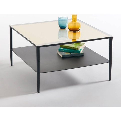 Razzi Steel and Glass Coffee Table