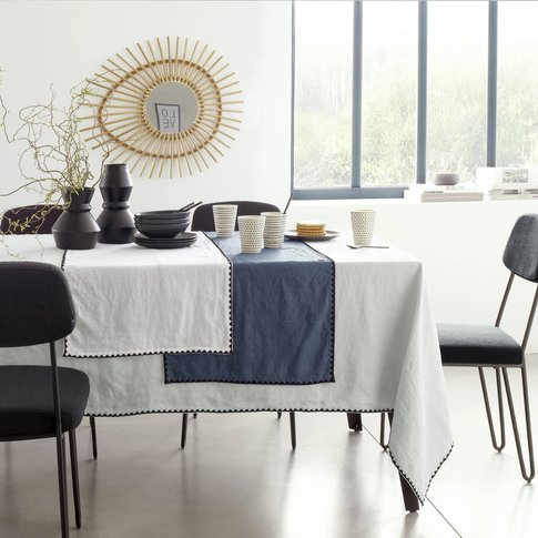 Adrio Cotton and Linen Table Runner