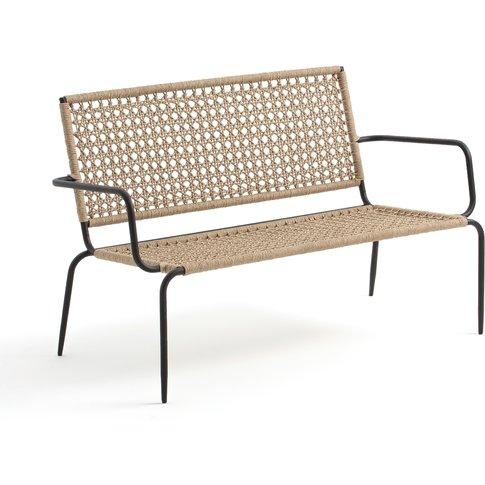 Ibiza Metal & Woven Cord 2-Seater Garden Bench