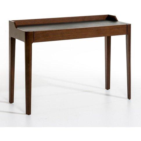 Junius Walnut & Leather Desk By E. Gallina