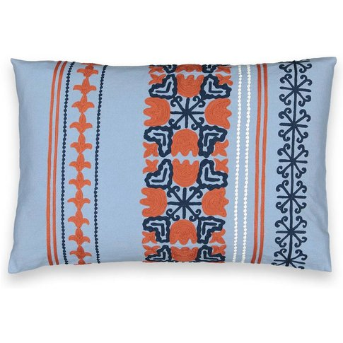 Bunko Ottoman-Inspired Cotton Cushion Cover
