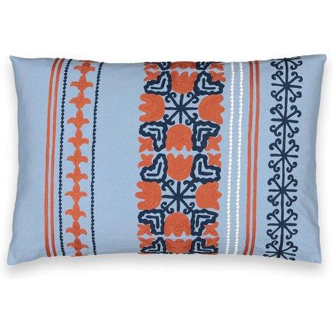 Bunko Ottoman-Inspired Cotton Cushion Cover
