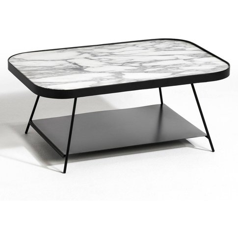Gemma Two-Tier Marble & Metal Coffee Table By E. Gal...