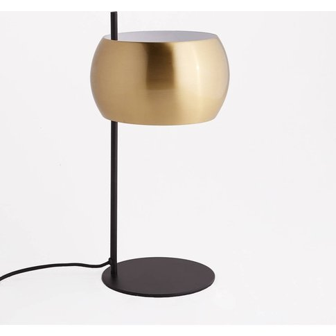 Elori Black Metal & Brass Table Lamp