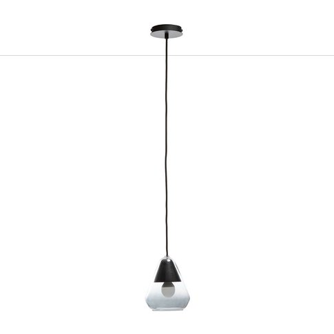 Nasoa Contemporary Pendant Light In Glass And Wood