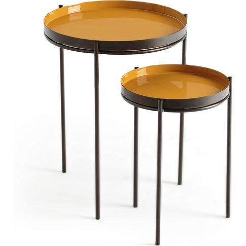 Picabea Set Of 2 Metallic Nesting Coffee Tables