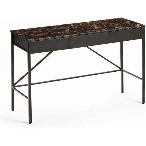 Fébée Amber Marble Console Desk