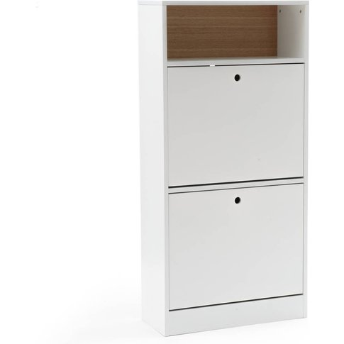 Biface 12 Pair Shoe Cabinet