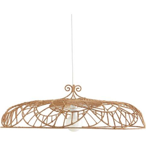 BLOOMSBURRY Decorative Metal & Jute Ceiling Light