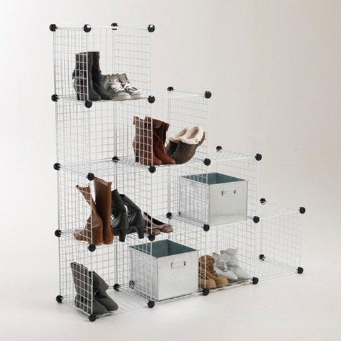 Set Of 10 Modulo Storage Cubes