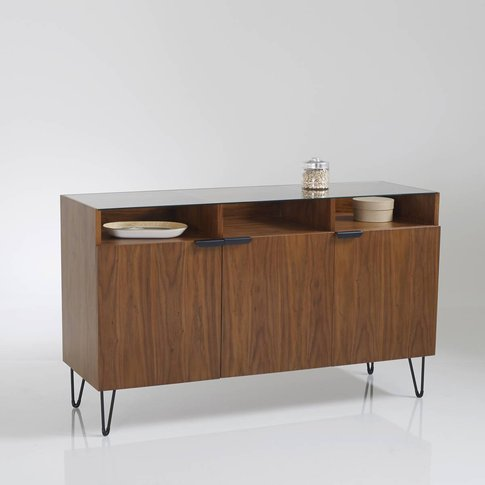 WATFORD 3-Door Vintage Walnut Sideboard