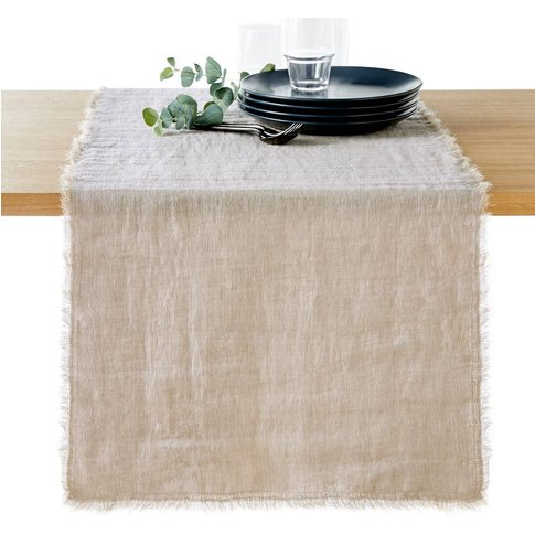 Linange Flax Table Runner in Washed Linen
