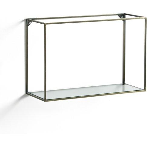 Oshota Horizontal Metal/Glass Shelving Unit