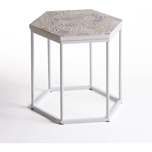 Topim Coffee Table/Pedestal Table With Ceramic Top