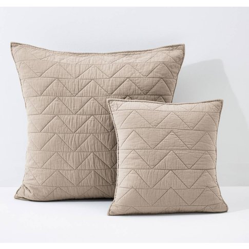 Zig Zag Scenario Quilted Cushion Cover & Pillowcase