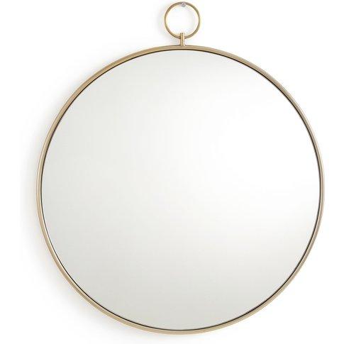 Uyova Round Mirror With Brass Frame
