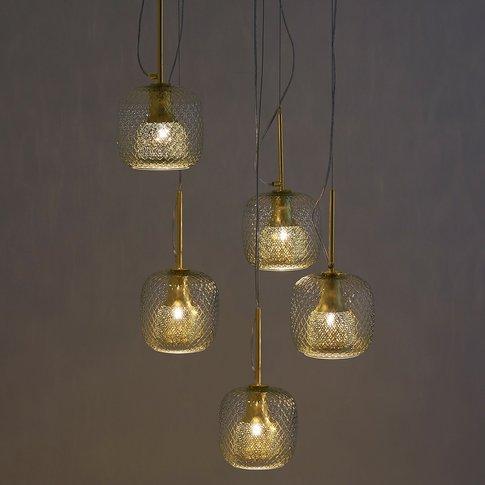 MISTINGUETT 5-Globe Textured Glass Ceiling Light by ...