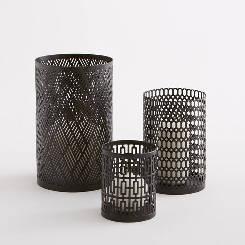 Set Of 3 Bataglia Metal Candle Holders