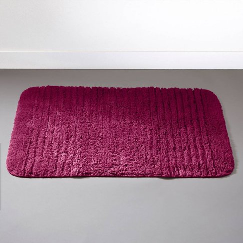 Soft Tufted Bath Mat With Textured Stripes